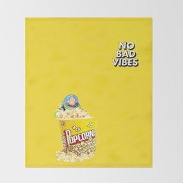 No bad vibes Throw Blanket