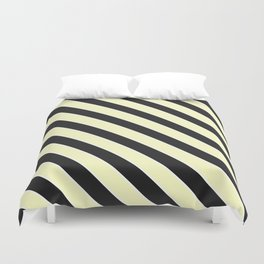 Yellow and black lines Duvet Cover