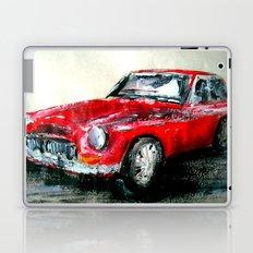 MG 1969 Classic Car Acrylics On Paper Laptop & iPad Skin