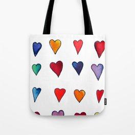 Multiple HEARTS Tote Bag