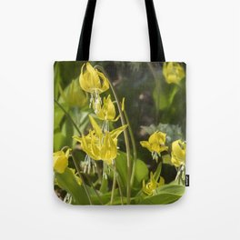 Glacier Lily Painterly Tote Bag