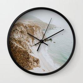 california coast v / big sur Wall Clock