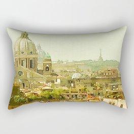 panoramic rome Rectangular Pillow