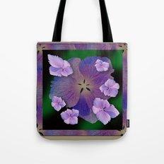 LACECAP HYDRANGEA FLOWER BOUQUET  Tote Bag