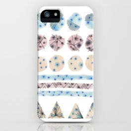 Geometrical Embroidery iPhone Case