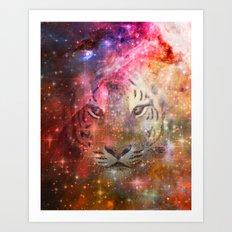 Galactic Tiger  Art Print