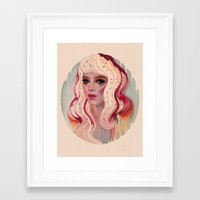 la Framed Art Prints featuring à La Mode by Megan Lara