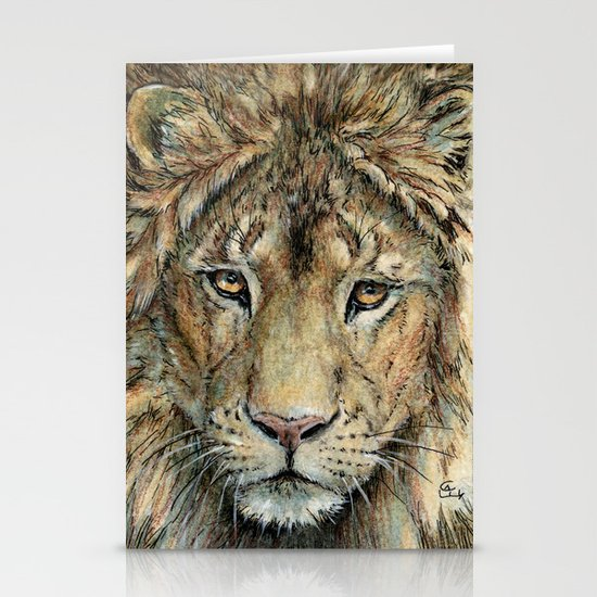 Lion 325 Stationery Cards