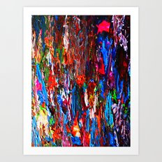 color mix / palette knife abstract Art Print