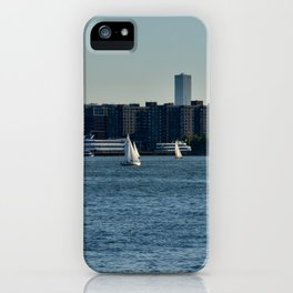 Sailing on the Hudson River iPhone Case