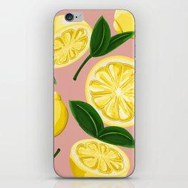 pink lemons iPhone Skin