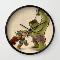 childish gambino Wall Clocks featuring Childish Heroes by TheMaddhattR