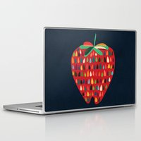 strawberry Laptop & iPad Skins featuring Strawberry by Picomodi