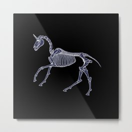 Unicorn Fossil Metal Print