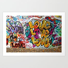 Prague: Famous Wall Owned by Knights of Malta Art Print
