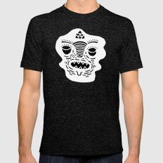 stencil face TEE invert Tri-Black Mens Fitted Tee LARGE