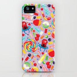 Candy Pattern - Purple iPhone Case
