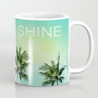 palm trees Mugs featuring Palm trees  by mark ashkenazi