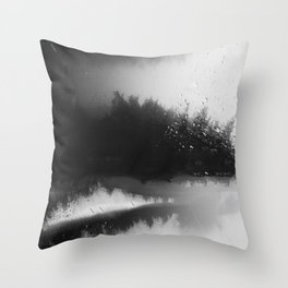 Fading Down Hidden Rain Drenched Paths Throw Pillow