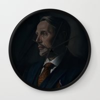 hannibal Wall Clocks featuring Hannibal by RileyStark