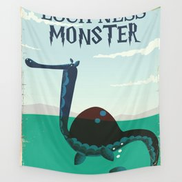Loch Ness Monster vintage 'children's book' travel poster Wall Tapestry