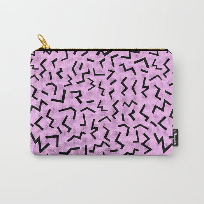 Zig Zag pattern geometric angular minimal modern print design charlotte winter Carry-All Pouch