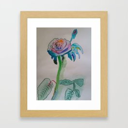 Flower inspiration modern paintings by Christian T. Framed Art Print