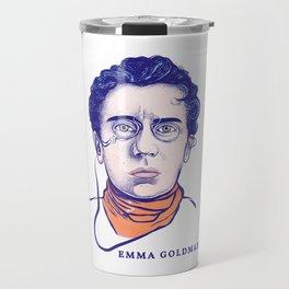 Portrait of the Political Activist and Writer Emma Goldman Travel Mug