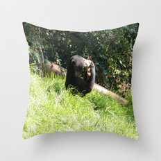 Sun Bear Profile Throw Pillow