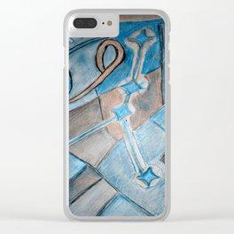 Cancer zodiac blue Clear iPhone Case