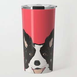 Montana - Border Collie gifts for dog people and dog lovers perfect gifts for a dog person.  Travel Mug