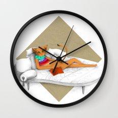 napping while reading Wall Clock