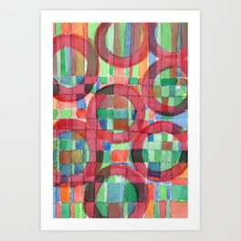 Red Magical Rings Art Print