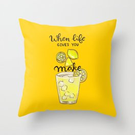 Make Lemonade Throw Pillow