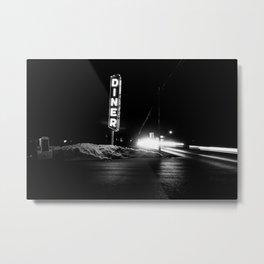 Roadside Diner Metal Print