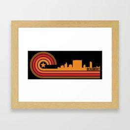 Retro Beaumont Texas Skyline Framed Art Print