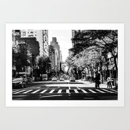 New York City Streets Contrast Art Print