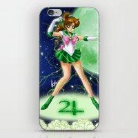 sailor jupiter iPhone & iPod Skins featuring Sailor Jupiter by HaruShadows