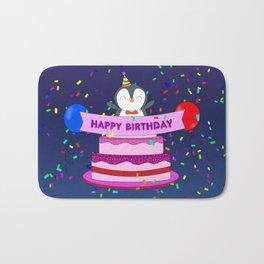 Penguin Surprise Birthday Bath Mat