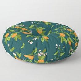 Citrus Tree - Navy Floor Pillow