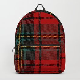 Lumberjack | Red and Green Buffalo Plaid Pattern | Christmas Red Pattern  Backpack