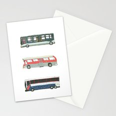 Buses Stationery Cards