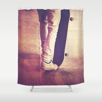 religion Shower Curtains featuring Skate is my religion by Rafael&Arty