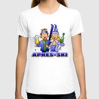 ski T-shirts featuring Après-ski by Cardvibes.com - Tekenaartje.nl