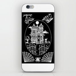 Ominous Victorian House Invert iPhone Skin