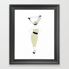 LIQUID DINNER PARTY DARLING, ANOTHER MARTINI? Framed Art Print