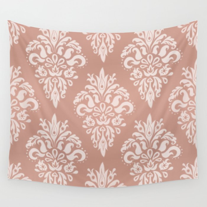 Rose Gold Vintage Pattern Wall Tapestry