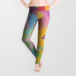 Watercolor Splatter Leggings