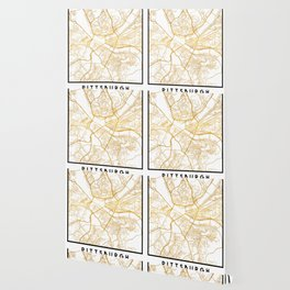 PITTSBURGH PENNSYLVANIA CITY STREET MAP ART Wallpaper