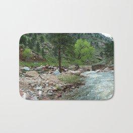 Cairn of Roosevelt National Forest Bath Mat